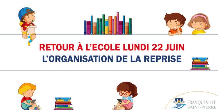 Reprise de l'école lundi 22 juin : l'organisation