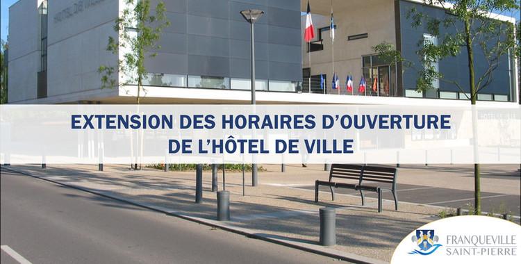Extension horaires d'ouverture de l'Hôtel de Ville