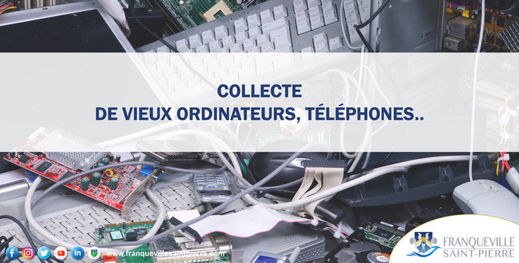 Collecte de vieux ordinateurs, téléphones