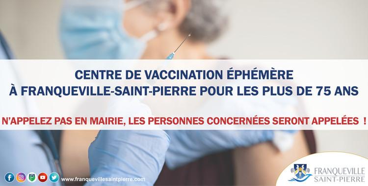 Centre éphémère de vaccination anti COVID-19