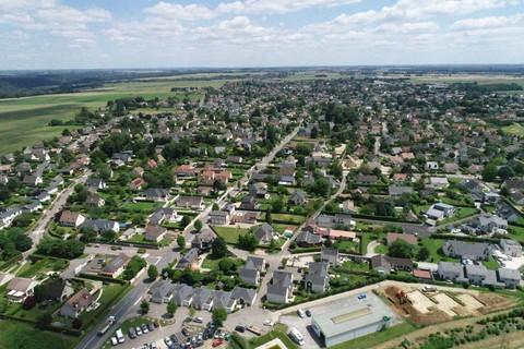 Vue aérienne de Franqueville-Saint-Pierre